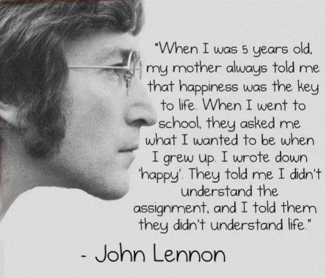 Life : by John Lennon
